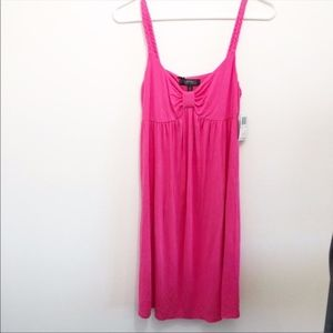 Buffalo David Britton pink tank dress medium NWT